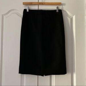 J. Crew No 2 Pencil Skirt Double Serge Wool 0 XS